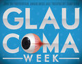 Blue Design with Sick Eye Commemorating Glaucoma Week Celebration, Vector Illustration
