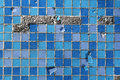 Blue destroyed mosaic background a texture Royalty Free Stock Photos