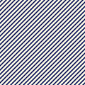 Blue diagonal stripes abstract background. Thin slanting line wallpaper. Seamless pattern with simple classic motif.