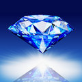 Blue diamond Stock Image