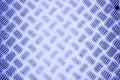 The blue diamond steel metal, aluminium sheet Royalty Free Stock Photo