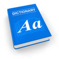 Blue dictionary Stock Images