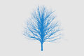 blue die tree color Silhouettes art design Royalty Free Stock Photo