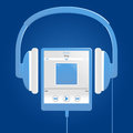 Blue digital music player Royalty Free Stock Photos
