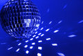 Blue disco ball Stock Photos