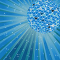 Blue disco ball Royalty Free Stock Image