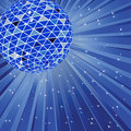 Blue disco ball Royalty Free Stock Images