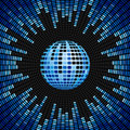 Blue Disco Ball and Equalizer Background Royalty Free Stock Image