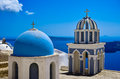 Blue Dome Church Royalty Free Stock Photo