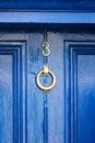 Blue door gates and doors in bray wicklow ireland Royalty Free Stock Photos