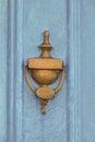 Blue door gates and doors in bray wicklow ireland Stock Photography