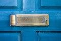 Blue door gates and doors in bray wicklow ireland Royalty Free Stock Photo