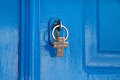 Blue door and the key Royalty Free Stock Photo