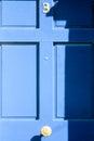 Blue door number gates and doors in bray wicklow ireland Stock Images