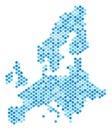 Blue Dot European Union Map Royalty Free Stock Photo