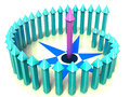 """Blue dotted arrows in a spiral â""""–1 Royalty Free Stock Photography"""