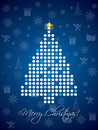 Blue dotted christmas card design Royalty Free Stock Photography
