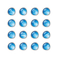 Blue drop business icons Stock Image