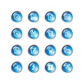 Blue drop document icons Stock Photos
