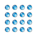 Blue drop e-mail icons Royalty Free Stock Photo
