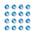 Blue drop server icons Stock Image