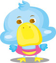 Blue Duck Cartoon Character Stock Photo