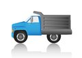 Blue dump truck Royalty Free Stock Photos