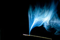 Blue dynamic smoke. Royalty Free Stock Photo