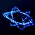 Blue dynamic swoosh lines tornado speed wind. Bright neon light Royalty Free Stock Photo