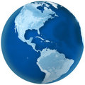 Blue Earth North and South America Royalty Free Stock Image