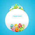 Blue easter background with space for text Stock Photography