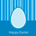 Blue Easter card Royalty Free Stock Images