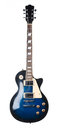 Blue electric guitar. Royalty Free Stock Photo