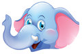 A blue elephant Royalty Free Stock Photo