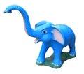 Blue elephant statue isolated on white background Royalty Free Stock Image