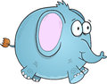Blue Elephant Vector Royalty Free Stock Photo