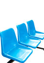 Blue empty seats on white background Stock Images