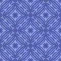 Blue Endless Texture. Oriental Geometric Ornament