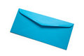 Blue envelope close up shot Royalty Free Stock Photography