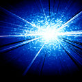 Blue explosion Royalty Free Stock Photo