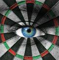 Blue eye and dartboard