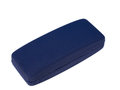 Blue eye glasses case isolated on white Royalty Free Stock Photo