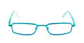 Blue eye glasses Royalty Free Stock Photo