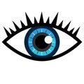 Blue Eye Icon Royalty Free Stock Photo