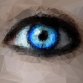 Blue eye from polygons Royalty Free Stock Photo