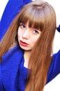 Blue-eyed girl Stock Photography