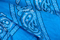 Blue fabric, bandana Stock Photo