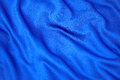 Blue fabric beautiful cloth with wrinkles Royalty Free Stock Photos