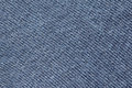 Blue fabric close up view of dark knitten texture abstract background Royalty Free Stock Images