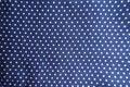 Blue fabric with polka dot print